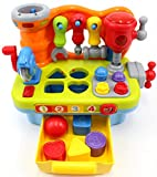 CifToys Musical Learning Workbench Toy for Kids Construction Work Bench Building Tools with Sound...
