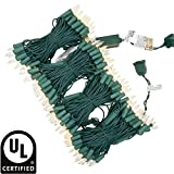 UL Certified Warm White LED Christmas String Lights, 66 Feet 200 LED Commercial Grade Stay Lit...