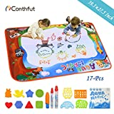 Doodle Drawing Mat, Conthfut Water Doodle Mat 39.5' X 27.5' in 9 Colors Aqua Magic Mat Educational...