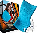 MIGHTY BLISSTM Large Electric Heating Pad for Back Pain and Cramps Relief -Extra Large [12'x24'] -...