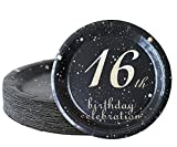 16th birthday decorations party supplies set,16th birthday gifts for girls or boys, 50 piece paper...