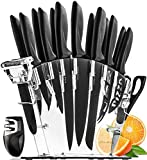 Home Hero Stainless Steel Knife Set with Block - 13 Kitchen Knives Set Chef Knife Set with Knife...