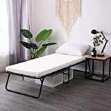 LEISUIT Rollaway Guest Bed Cot Fold Out Bed - Portable Folding Bed Frame with Thick Memory Foam...