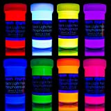 Premium Glow in The Dark Paint Set by neon nights - Set of 8 Professional Grade Neon Paints -...