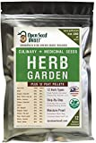100% NON-GMO Heirloom Culinary and Medicial Herb Kit - 12 popular Easy-to-Grow Herb Seeds by Open...