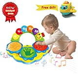HOMOFY Baby Toys 6 to 12 Months Baby Portable Musical Toys Drums Piano Musical Instrument Early...