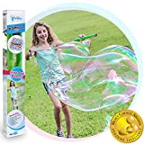 WOWMAZING Giant Bubble Wands Kit: (3-Piece Set) | Incl. Wand, Big Bubble Concentrate and Tips &...