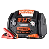 Kinverch Portable Power Station Jump Starter 1500 Peak/750 Instant Amps with 300W Inverter,150 PSI...