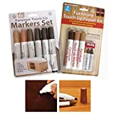 13 Pc Furniture Marker Crayons Repair Kit Wood Touch Up Scratch Filler Remover