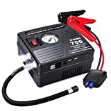 Portable Car Jump Starter with Air Compressor, 700 AMP 120 PSI, 18000 mAh Li-on Battery Jump Pack...