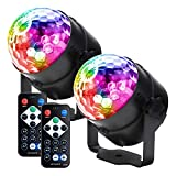 Party lights Disco Ball LED Strobe Lights Sound Activated, RBG Disco lights,dj lights,Portable 7...