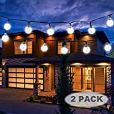 Vivii Solar String Light 20 ft 30 LED Crystal Ball Waterproof String Lights Solar Powered Fairy...