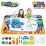 Hommate Water Doodle Mats Drawing Mat Multicolor Large Size 39.3 x 27.6 Inch Sea World Educational...