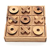 Tic Tac Toe Wood Coffee Tables Family Games to Play and a Classic Game Home Decor for Living Room...