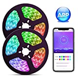 Dream Color LED Strip Lights with APP, ELlight 10m/32.8ft LED Lights with Multicolor Chasing,...