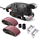 TACKLIFE Classic Belt Sander 3×18-Inch with 13Pcs Sanding Belts, Bench Sander with Variable-speed...