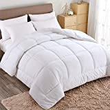 WARM HARBOR Queen All Season White Down Alternative Quilted Comforter and Duvet Insert - Luxury...