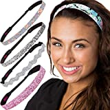 Hipsy Cute Fashion Adjustable No Slip Hairband Headbands for Women Girls & Teens (Pink Delicate...