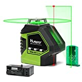 Huepar Self-Leveling Green Laser Level 360 Cross Line with 2 Plumb Dots Laser Tool -360-Degree...