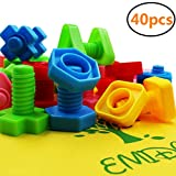 EMIDO 40 Pieces Jumbo Nuts Bolts Toy, STEM Toy, Kids Educational Enlightenment Toys, Occupational...