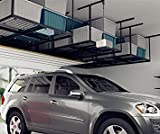 FLEXIMOUNTS 4x8 Overhead Garage Storage Rack Adjustable Ceiling Garage Rack Heavy Duty, 96' Length x...