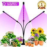 Grow Light, Ankace 2019 Upgraded Version 60W Tri Head Timing 36 LED 5 Dimmable Levels Plant Grow...