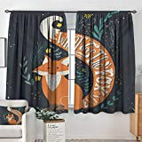Mozenou Vintage Room Darkening Curtains What Does The Fox Say Quote Hipster Animals Know Better...