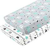 Pack n Play Stretchy Fitted Pack n Play Playard Sheet Set-Brolex 2 Pack Portable Mini Crib...