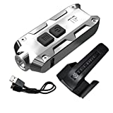 Nitecore TIP SS Stainless Steel Edition 360 Lumen USB Rechargeable Keychain Flashlight & LumenTac...