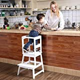 SDADI Kids Kitchen Step Stool with Safety Rail CPSC Certified- for Toddlers 18 Months and Older,...