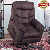 Harper&Bright Designs Power Lift Recliner Chair Upholstered Fabric with Remote Control for Living...