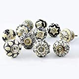 Artncraft Set of 10 Vintage Color Multi Designed Ceramic Cupboard Cabinet Door Knobs Drawer Pulls &...