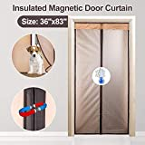 Magnetic Thermal Insulated Door Curtain for Air Conditioner Heater Room/Kitchen Warm Winter Cool...