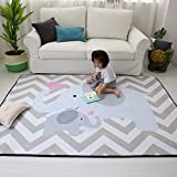 Stylish Extra Large Baby Play Mat Soft Playmat Grey Rug Foam Play Mat Kid Floor Mats Baby Crawling...