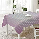 AmaUncle 3D Print Table Cloths Cover Vertical Wave Like Lines Display in Colors Computer Graphic...