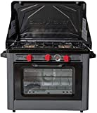 Camp Chef Deluxe Outdoor Camp Oven - Stainless Steel, Insulated Oven Box, Matchless Ignition -...