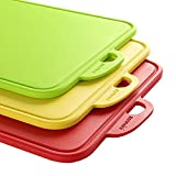 zanmini Color-Code Cutting Boards for Kitchen, Dishwasher-Safe Chopping Boards Set of 3, with...
