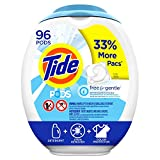 Tide PODS Free and Gentle Laundry Detergent, 96 Count, Unscented and Hypoallergenic for Sensitive...