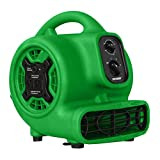 XPOWER P-230AT Multi-Purpose Mini Mighty Air Mover, Utility Fan, Dryer, Blower with Power Outlets...