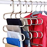 DOIOWN S-Type Stainless Steel Clothes Pants Hangers Closet Storage Organizer for Pants Jeans Scarf...