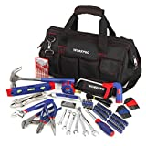 WORKPRO 156-Piece Home Repair Tool Set - Daily Use Hand Tool Kit with Wide Open Mouth Tool Bag -...