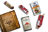 Carnivore Club Gift Crate - 4 to 6 Artisan Cured Meats - Food Basket - Comes in a Handcrafted Wooden...