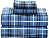Ruvanti 100% Cotton 4 Piece Flannel Sheets Full - Deep Pocket - Warm - Super Soft - Breathable Full...