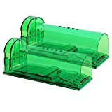 Authenzo 2019 Upgrade Version Humane Mouse Trap Smart No Kill Mouse Trap Catch and Release, Safe for...