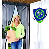 Reinforced Magnetic Screen Door - Many Sizes and Colors to Fit Your Door Exactly - US Military...