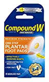 Compound W One Step Plantar Foot Pads   Salicylic Acid Wart Remover   20 Pads   2 Pack