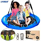 40' Flying Saucer Tree Swing for Kids | Round Indoor Outdoor Swingset Toys | 700 Lb Weight Sensory...