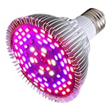 50W Led Grow Light Bulb, Led Plant Bulb Full Spectrum Grow Lights for Indoor Plants Vegetables and...