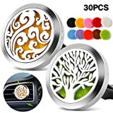 TT-Star 2PCS 30mm Car Diffusers Aromatherapy Essential Oil Diffuser Vent Clip - Cloud, Tree of Life...