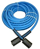 UBERFLEX Kink Resistant Pressure Washer Hose 1/4' x 50' 3,100 PSI with (2) 22MM